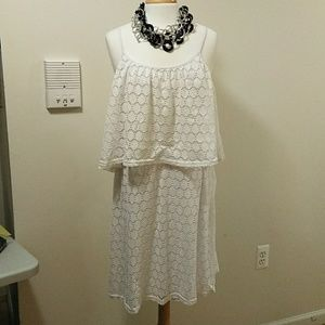 Rouge Collection gorgeous White dress. Size 1X.
